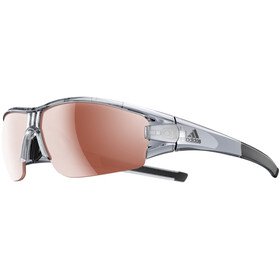 adidas Evil Eye Halfrim Brille grey transparent shiny/lst